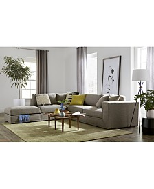 Dulovo Fabric Sectional Collection, Created for Macy's