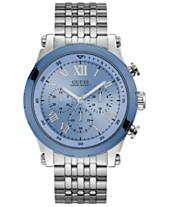 d69c5a087d4e GUESS Men s Chronograph Stainless Steel Bracelet Watch 46mm