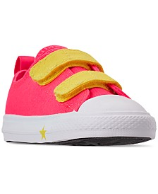 Converse Toddler Girls' Chuck Taylor All Star Glow Up 2V Casual Sneakers from Finish Line