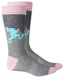 Bar III Men's Frog Colorblocked Socks, Created for Macy's