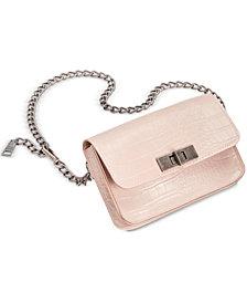 Steve Madden Croc-Embossed Chain Belt Bag