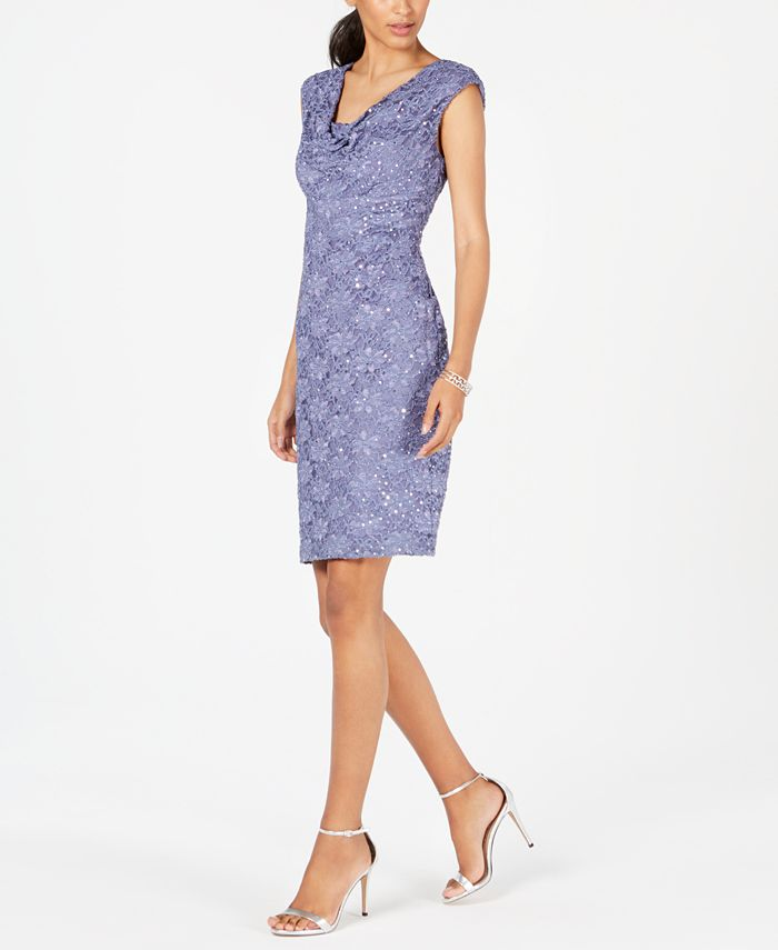 Connected - Sequined Lace Sheath Dress