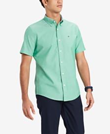 Tommy Hilfiger Men's Custom Fit Linen Blend Porter Shirt, Created for Macy's