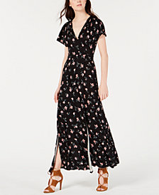 American Rag Juniors' Printed Tie-Back Maxi Dress, Created for Macy's