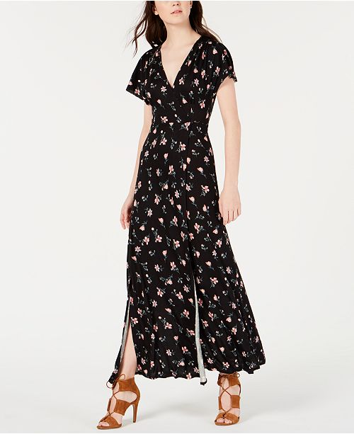 American Rag Juniors' Printed Tie-Back Maxi Dress, Created for Macy's