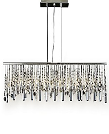 Modern 11-Light Linear Chrome Chandelier