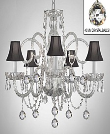 Empress 5-Light Crystal Chandelier with Shades and Crystal Balls