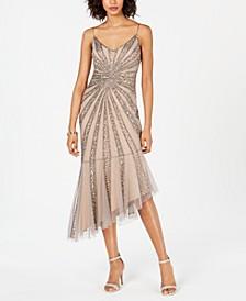 Beaded Bias-Cut Dress