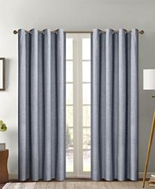 """Crescent Foam Back Total Blackout Grommet Single Curtain Panel 52""""x84"""""""