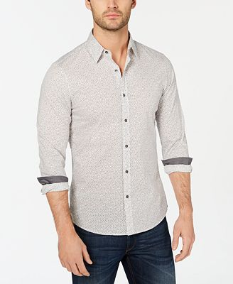 Michael Kors Men's Micro-Print Dot Shirt