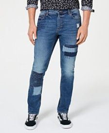 American Rag Men's Patched Jeans