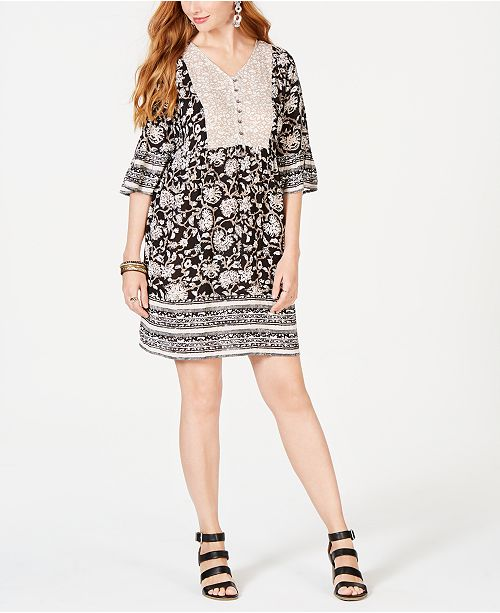 870e3ef83ff ... Style   Co Floral-Print Boho Dress