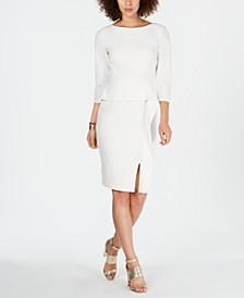 Peplum-Waist Bodycon Dress