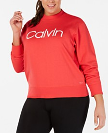Calvin Klein Performance Plus Size Logo Top