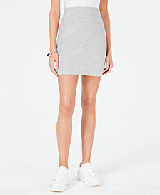 Bar III Sweatshirt Mini Skirt, Created for Macy's