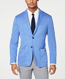 Bar III Men's Slim-Fit Medium Blue Knit Sport Coat, Created for Macy's