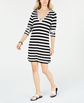 b8866134932ad Miken Long-Sleeve Hooded Cover-Up Dress