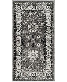 "Safavieh Vintage Hamadan Gray and Black 2'7"" x 5' Area Rug"