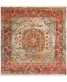 Vintage Persian Saffron and Cream 5' x 5' Square Area Rug