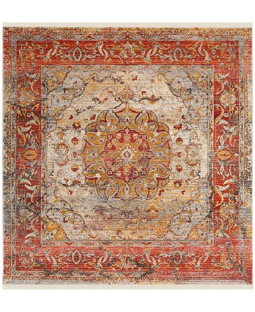 Safavieh Vintage Persian Saffron and Cream 5' x 5' Square Area Rug