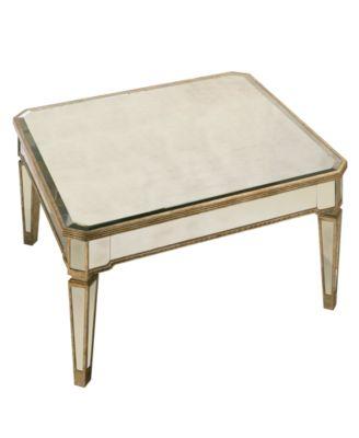 Marais Table Mirrored Square Coffee Table. Furniture  sc 1 st  Macy\u0027s & Marais Table Mirrored Square Coffee Table - Furniture - Macy\u0027s