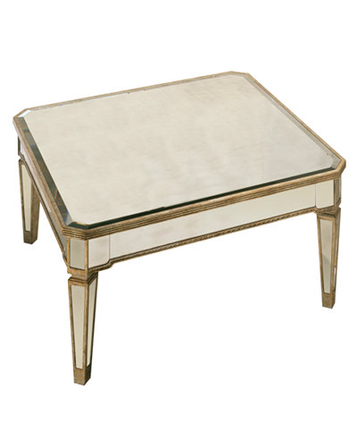 Marais Table Mirrored Square Coffee Table Furniture Macy 39 S
