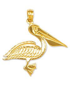 14k Gold Charm, Pelican Charm