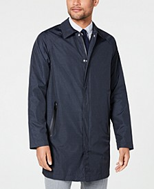 Men's Slim-Fit Navy Twill Raincoat