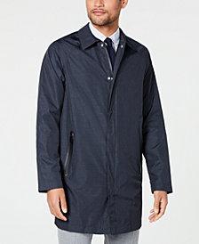 DKNY Men's Slim-Fit Navy Twill Raincoat