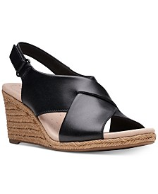 Clarks Collection Women's Lafely Alaine Wedge Sandals, Created For Macy's
