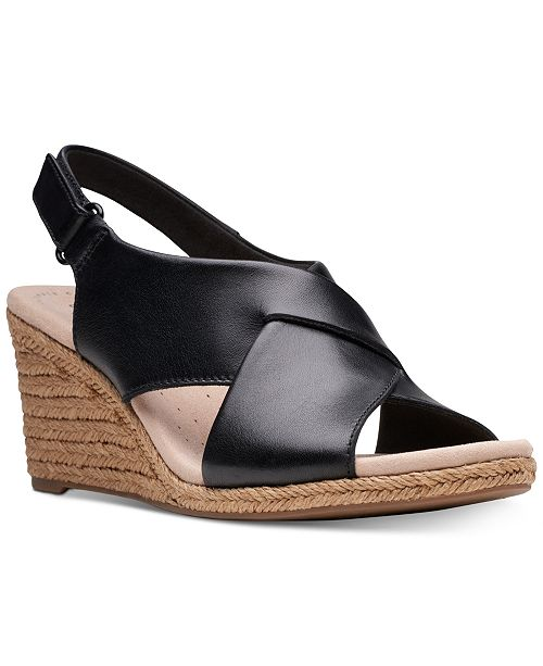 9ddfcf41c9d2 ... Clarks Collection Women s Lafely Alaine Wedge Sandals