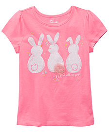 Epic Threads Little Girls Bunny-Print T-Shirt, Created for Macy's