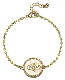 Capwell & Co. Hammered Hamsa Bracelet
