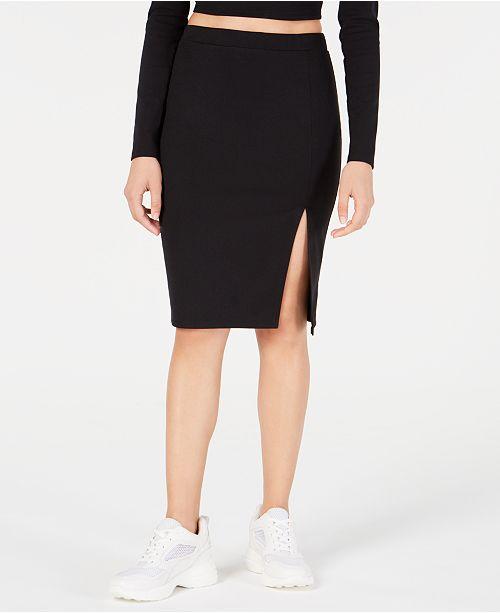 Material Girl Juniors' Ponté-Knit Pencil Skirt, Created for Macy's