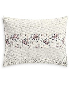 Martha Stewart Collection Textured Floral Stripe Standard Sham, Created for Macy's