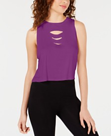 Material Girl Juniors' Slash Tank Top, Created for Macy's