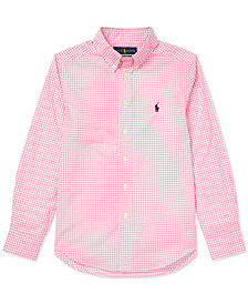 Polo Ralph Lauren Big Boys Gingham Cotton Poplin Shirt