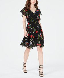 GUESS Vera Floral-Print Belt-Detail Dress