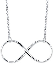 "Open Infinity 18"" Pendant Necklace in Sterling Silver"