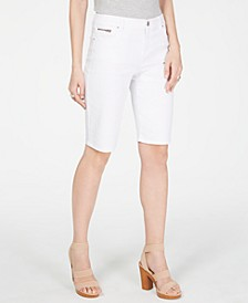 INC Denim Bermuda Shorts in Curvy, Created for Macy's