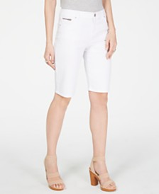 I.N.C. Petite Denim Bermuda Shorts, Created for Macy's