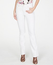 INC Petite White Boot-Cut Jeans, Created for Macy's