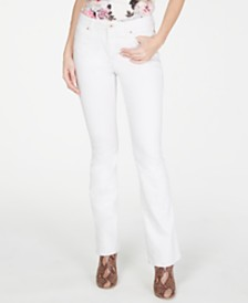 I.N.C. Petite White Boot-Cut Jeans, Created for Macy's
