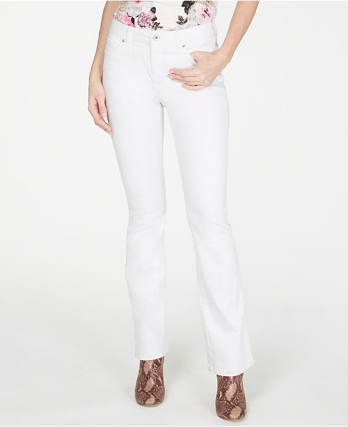 INC International Concepts I.N.C. Petite White Boot-Cut Jeans, Created for Macy's