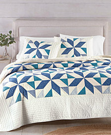 Martha Stewart Collection Sawtooth Star Collector's Quilt and Sham Collection