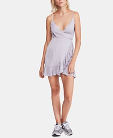 Free People All My Love Sunshine Mini Wrap Dress