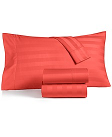 CLOSEOUT! Stripe Standard Pillowcase Set, 550 Thread Count 100% Supima Cotton, Created for Macy's