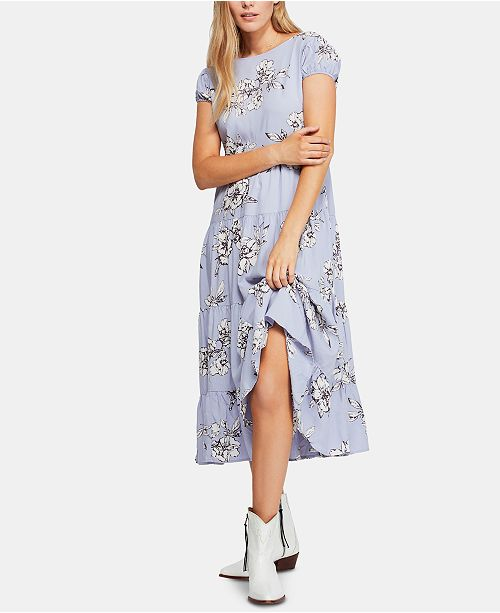 c7c78f42603 Free People Rita Tiered Midi Dress   Reviews - Dresses - Women - Macy s