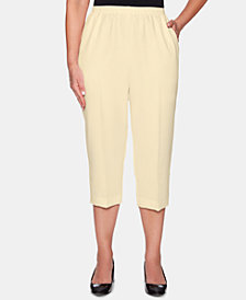 Alfred Dunner Classic Cropped Pull-On Pants