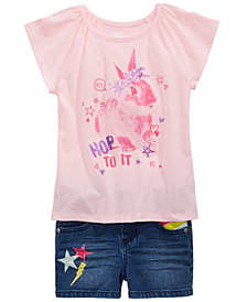 Epic Threads Toddler Girls Graphic-Print T-Shirt & Denim Shorts, Created for Macy's